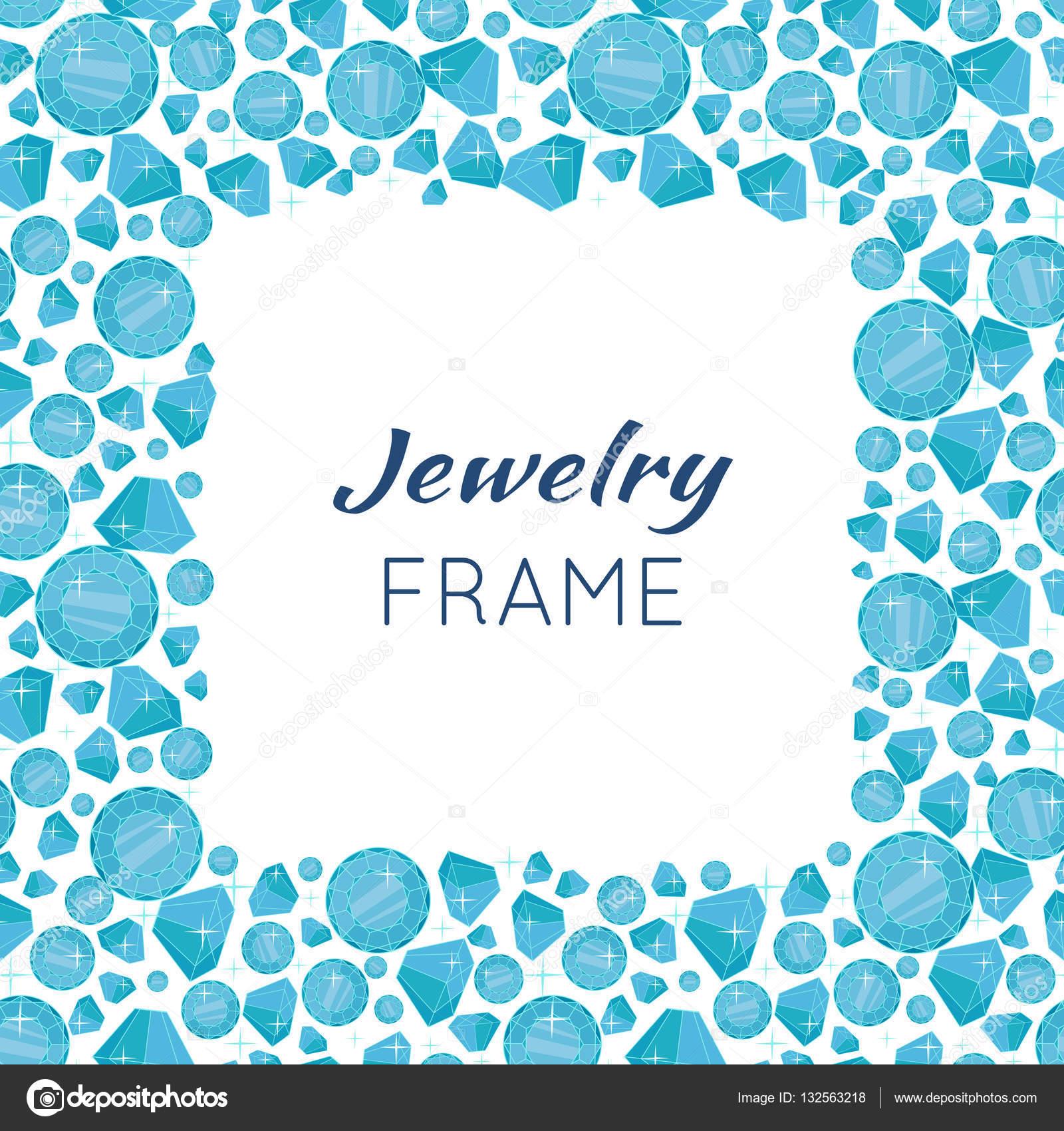 marco cuadrado hecho de diamantes — Archivo Imágenes Vectoriales ...