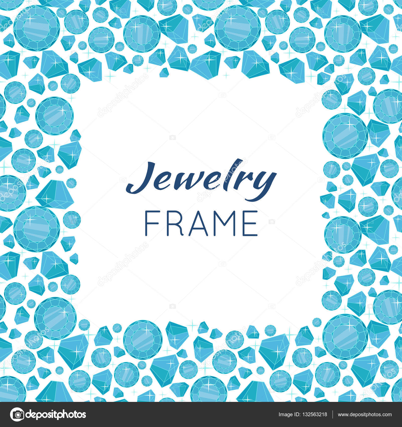 quadratische Rahmen aus Diamanten — Stockvektor © robuart #132563218
