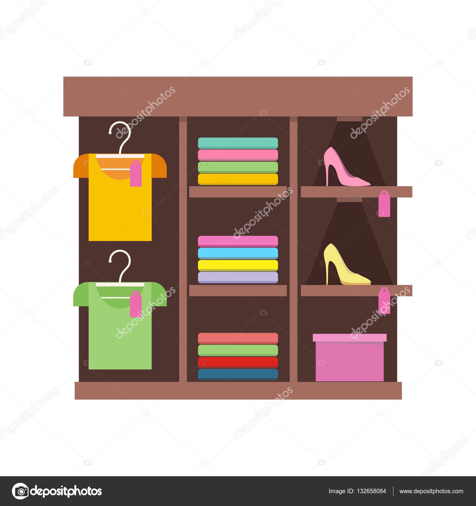 Półki Z Ubrania W Sklepie Grafika Wektorowa Robuart