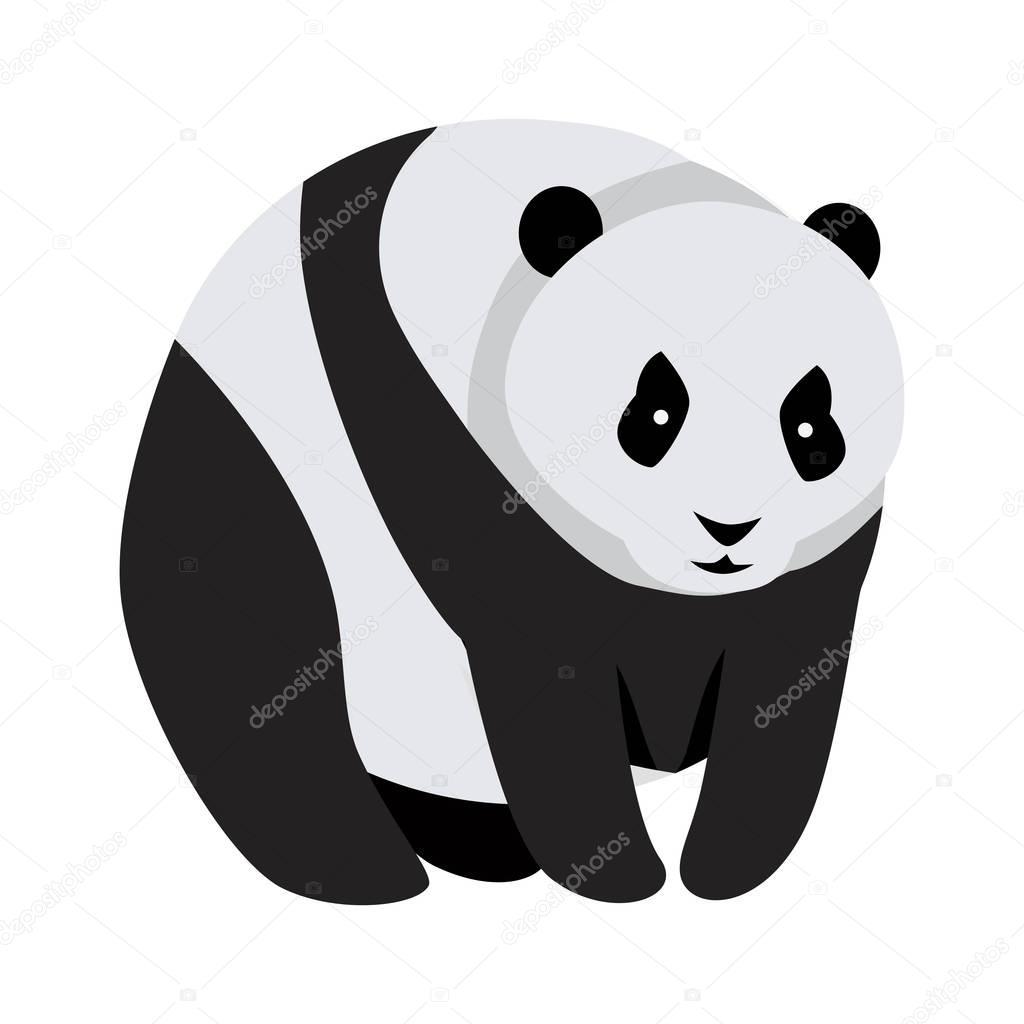 Orso di panda gigante isolato su bianco u2014 vettoriali stock © robuart