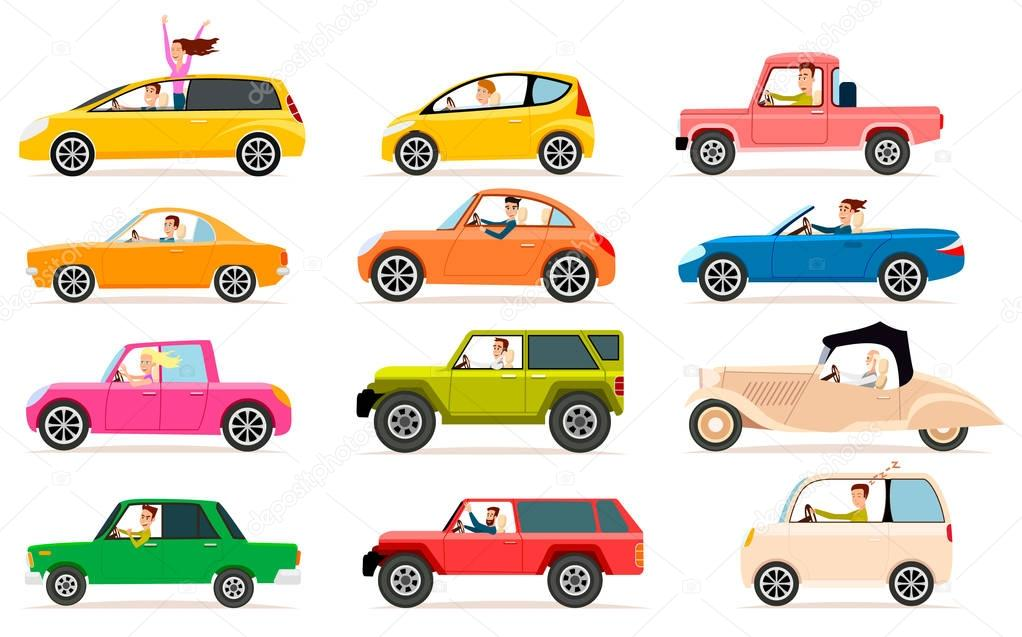 Raccolta di diversi tipi di cabine automobilistiche