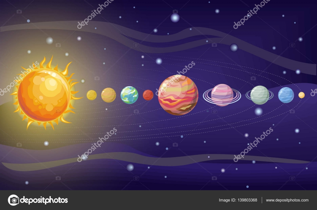 Design do sistema solar espa o com planetas e estrelas for Outer space design richmond