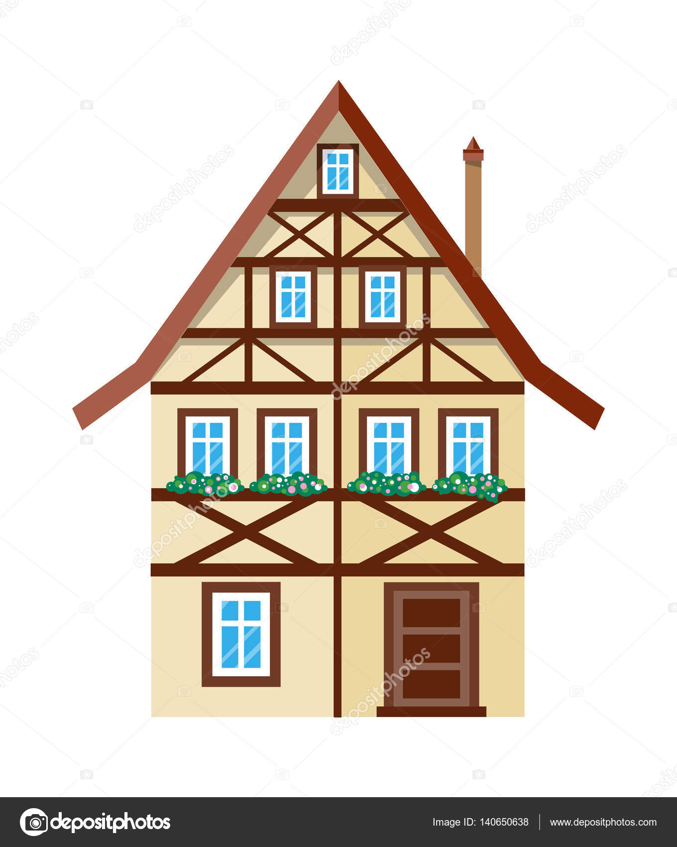 Sweet Home extérieur maison bannière affiche modèle — Image ...