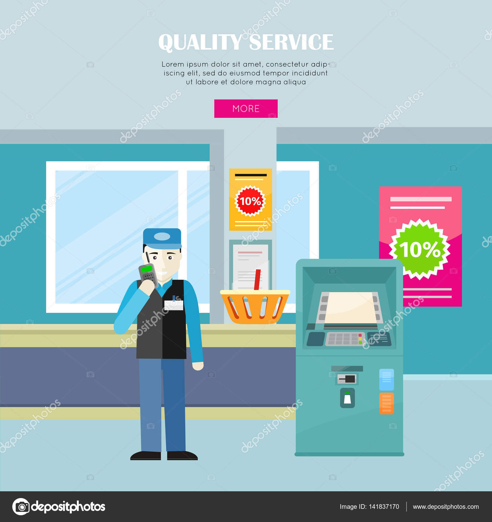 Resultado de imagem para ilustração, segurança de supermercado