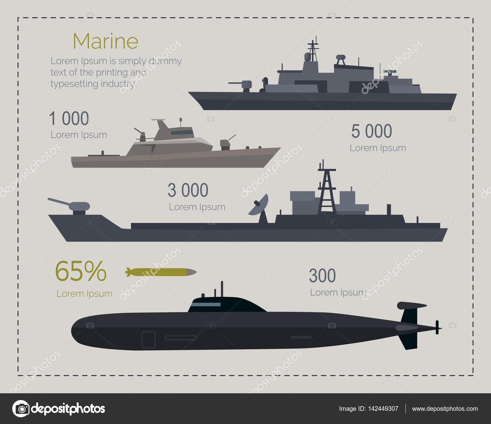 Armes militaires de l'armée de l'air et des forces navales illustration vectorielle