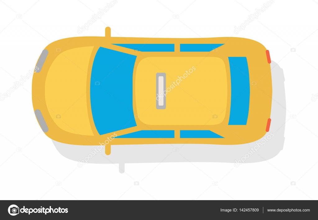 Taxi voiture vue de dessus plat style vector icon image vectorielle robuart 142457809 - Voiture vue de haut ...