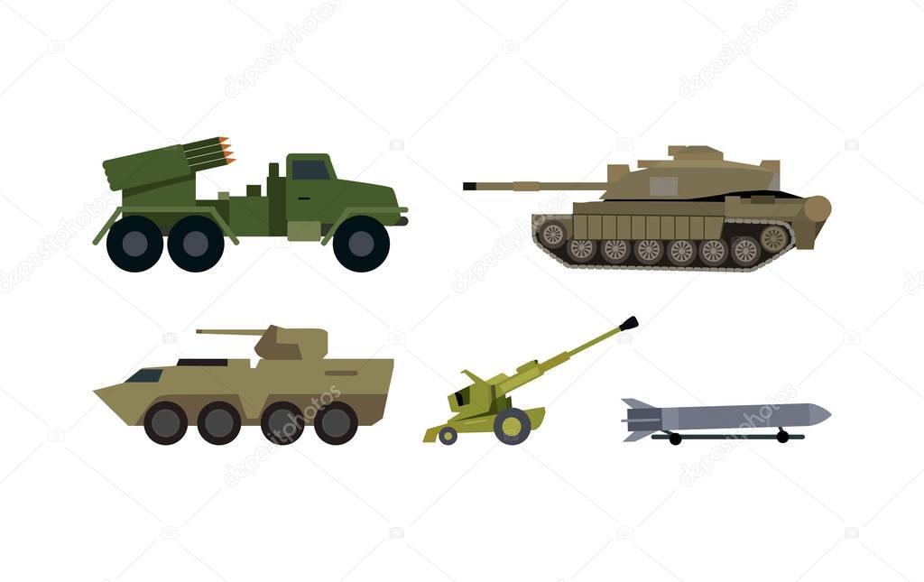 arten von modernen bewaffnung flache vektor set stockvektor robuart 142830579. Black Bedroom Furniture Sets. Home Design Ideas
