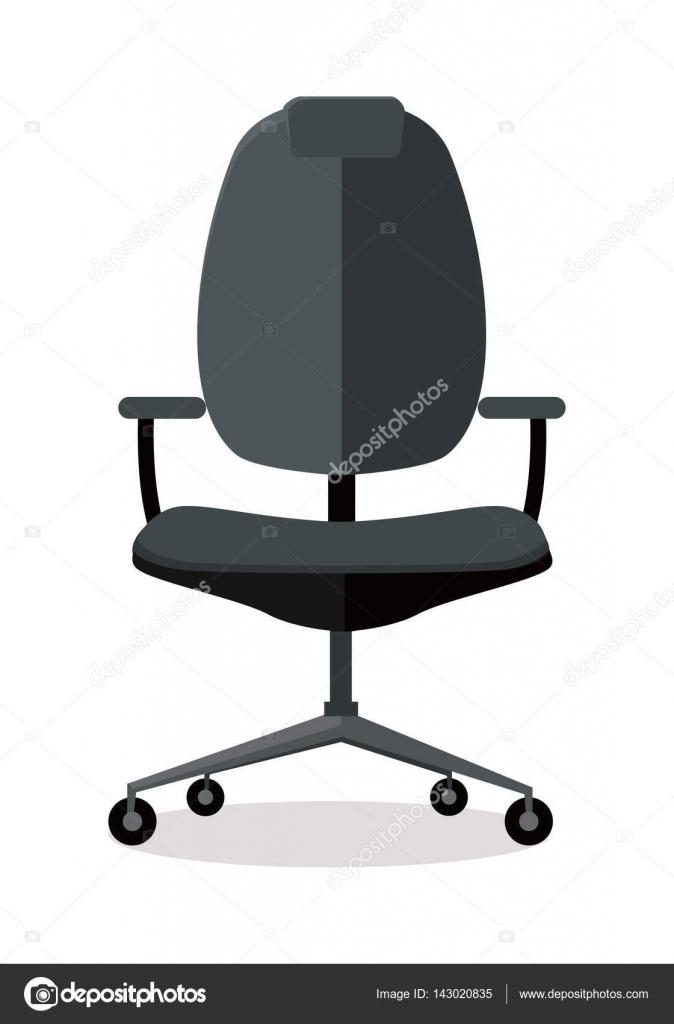 Oficina silla icono símbolo aislado en blanco — Vector de stock ...