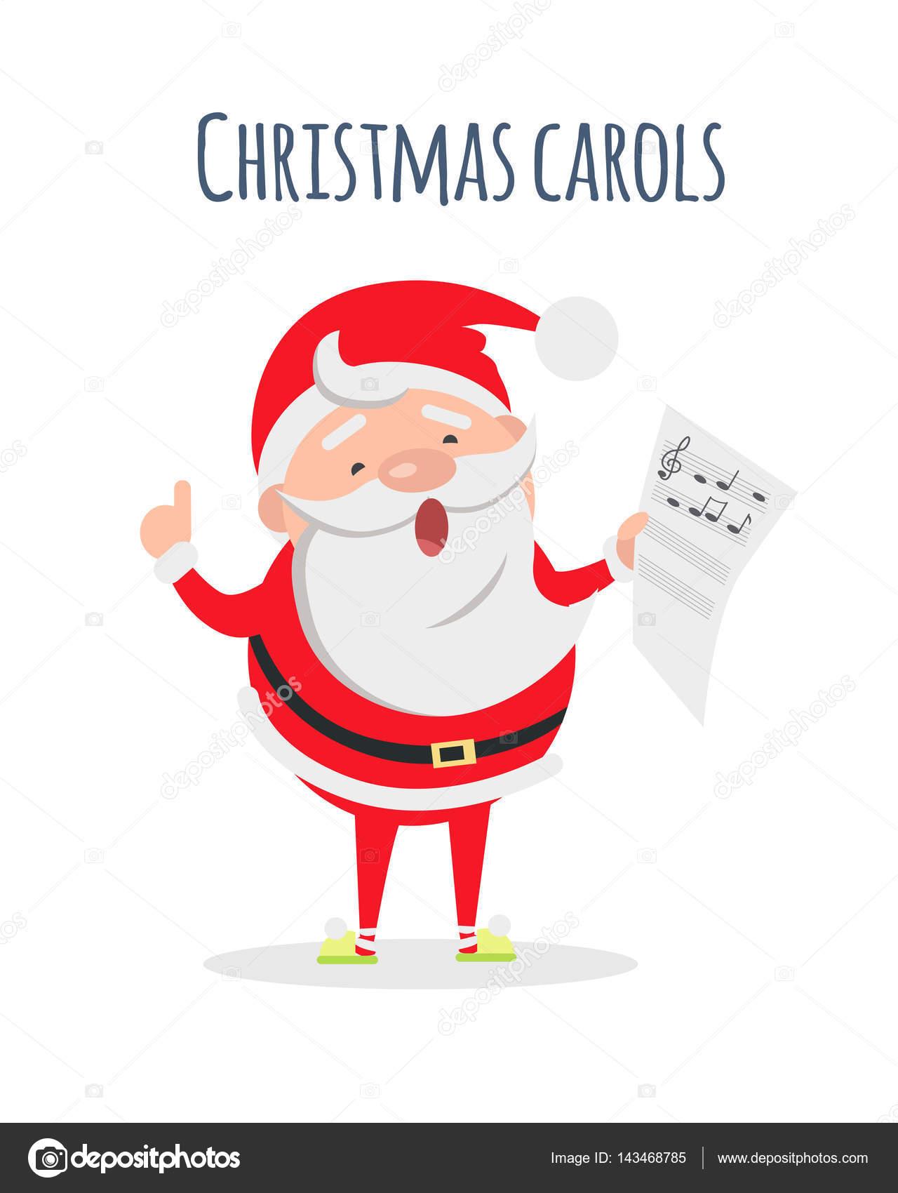 Santa Claus Weihnachten Weihnachtslieder singen. Sänger-Schauspieler ...