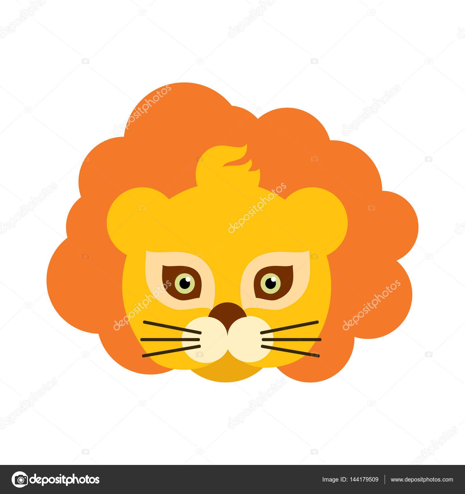 Maschera di carnevale degli animali di leone. re arancione della