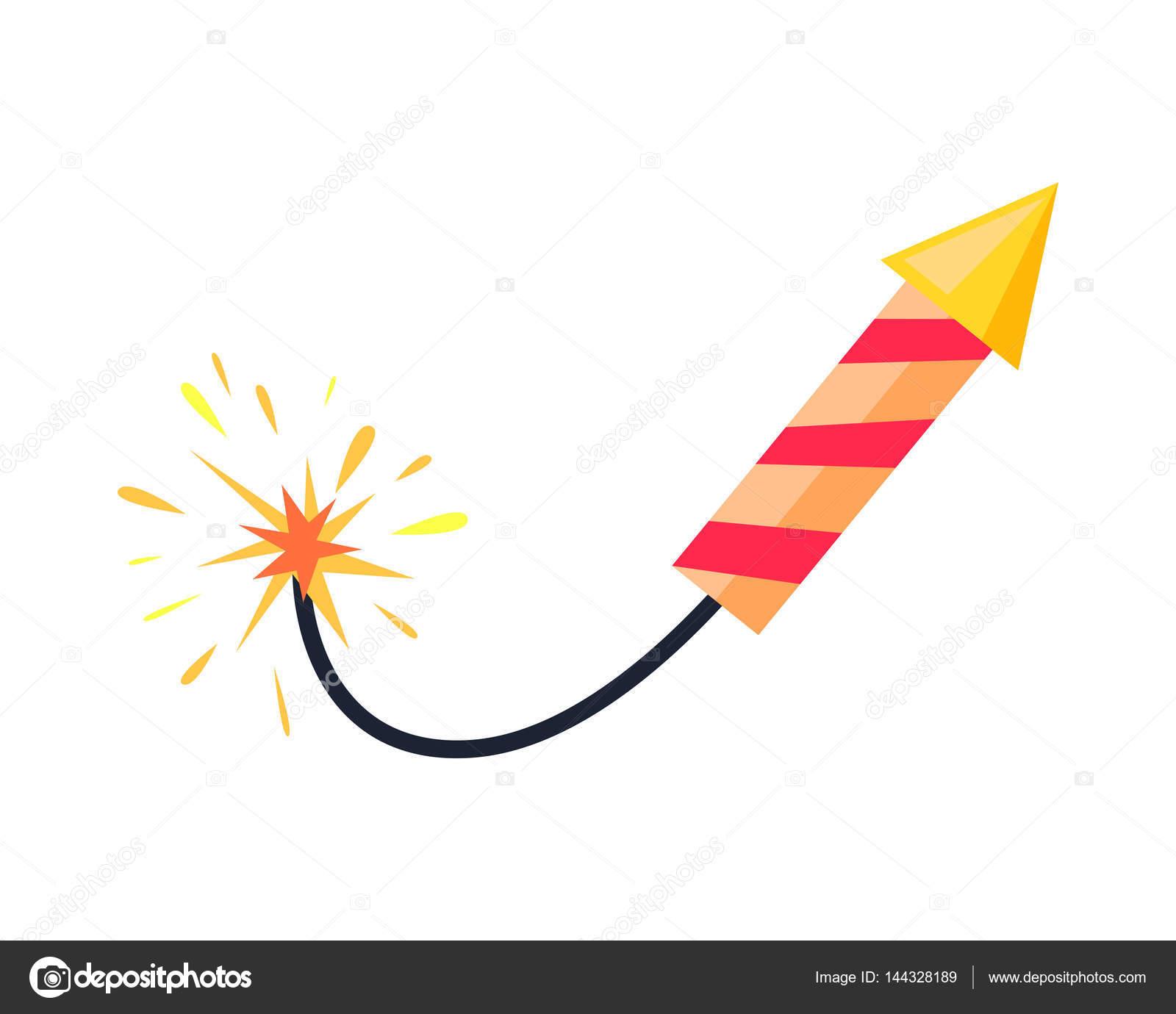 Dibujos Cohetes Artificiales Cohete De Fuegos Artificiales Sin