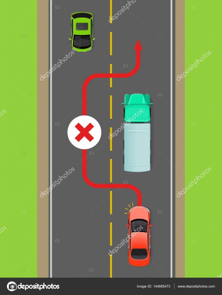 LKW überholen Verbot flache Zeigerdiagramm — Stockvektor © robuart ...