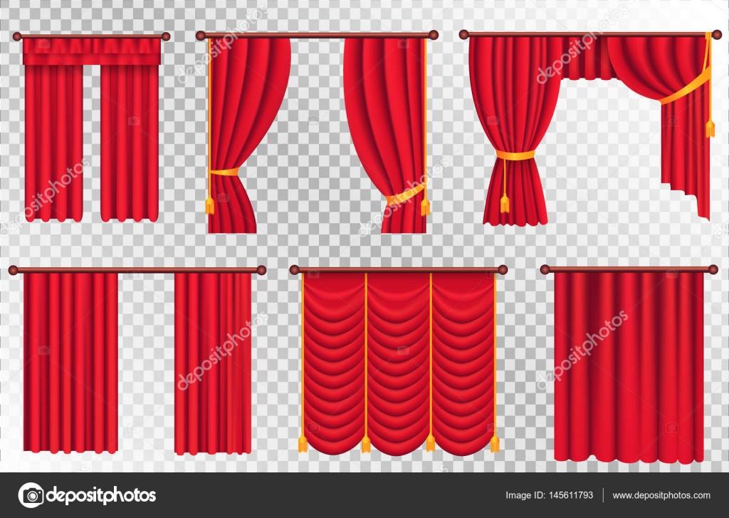 juego de cortinas rojas ilustracin de cortina de teatro vector de stock - Cortinas Rojas