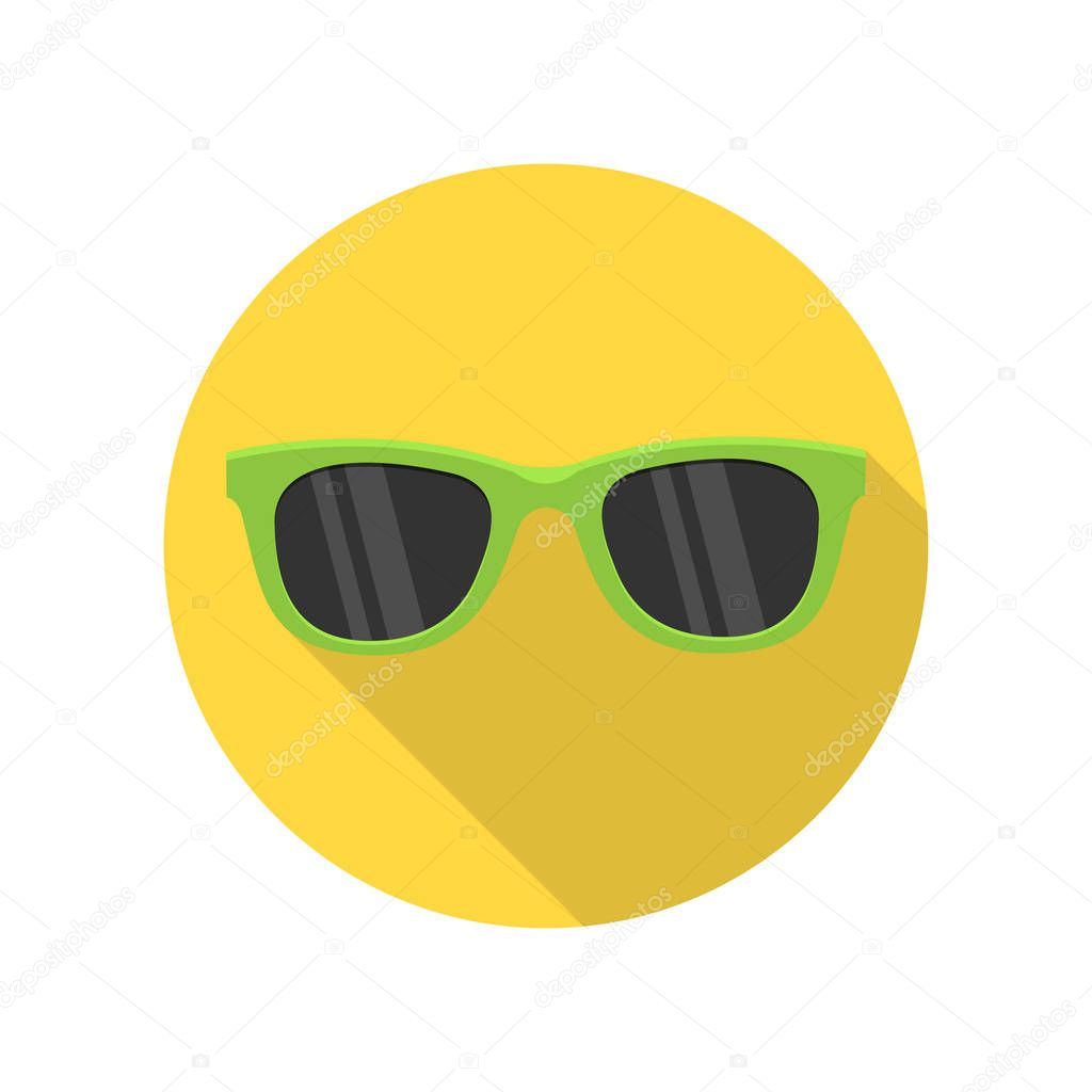 0cbc6f7316a596 Groene zonnebril pictogram — Stockvector © robuart  145793873