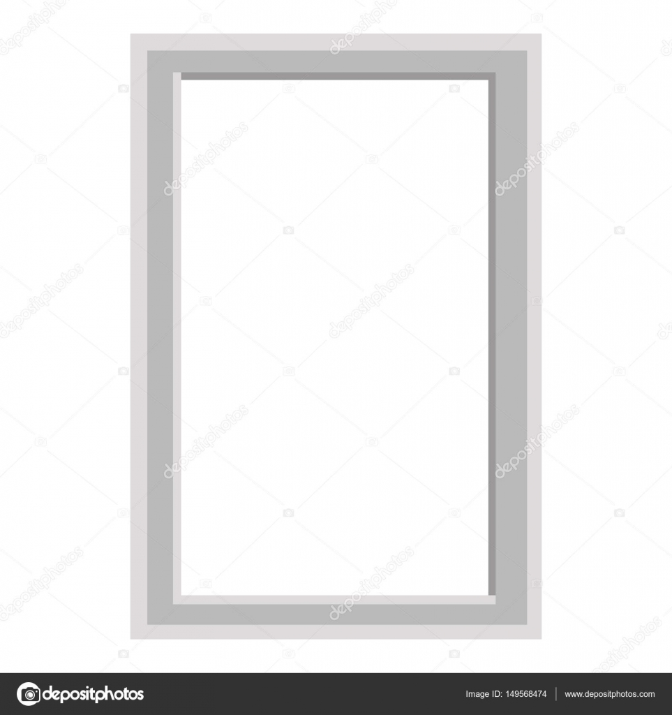 Simple Grey Square Frame Isolated Illustration — Stock Vector ...