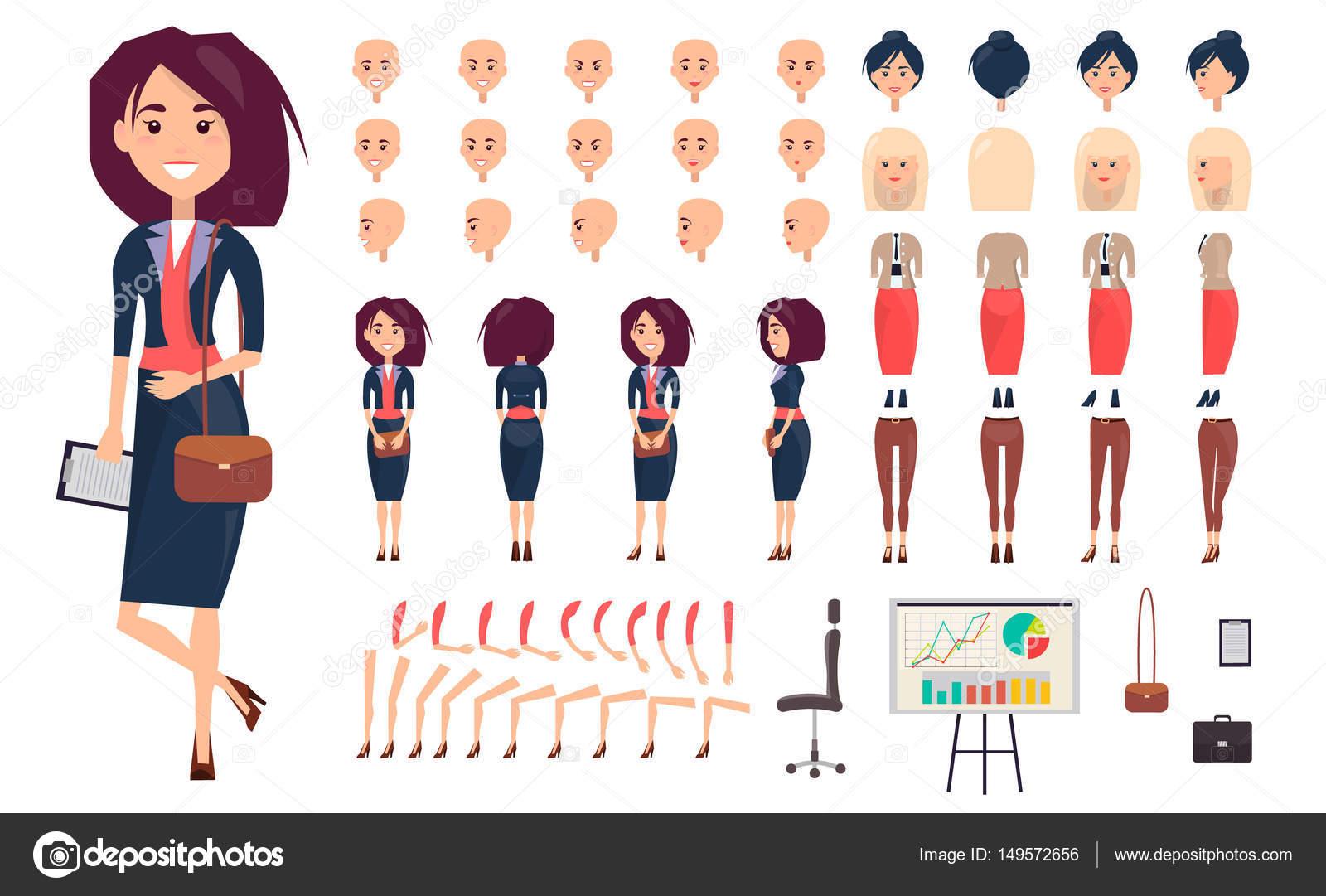 8b077b8d8d9d7 Businesswoman Constructor Isolated Illustration– stock illustration