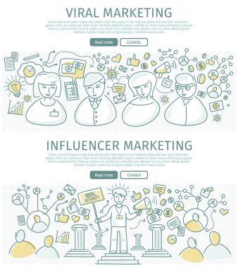Set of Marketing Flat Design Vector Web Banners
