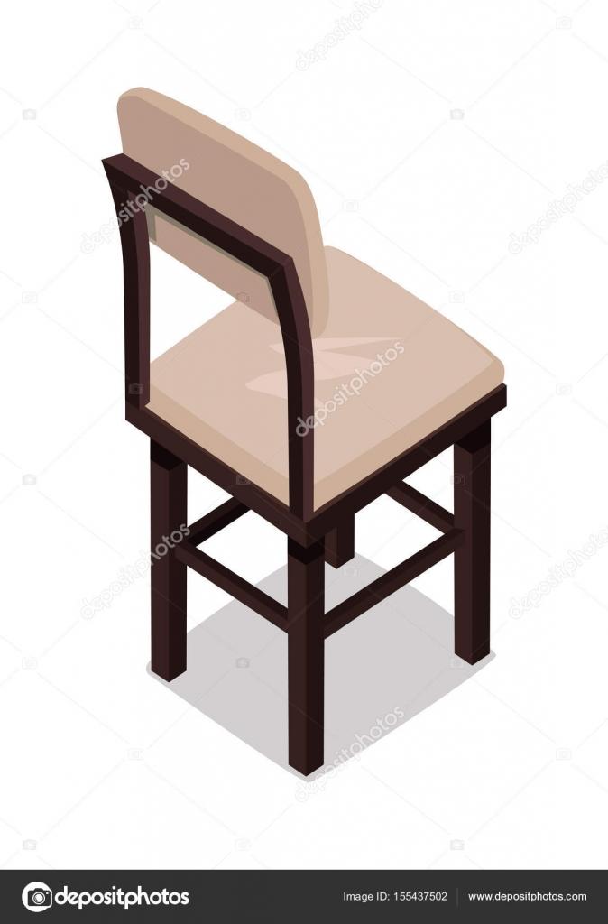 Silla cocina madera isométrica — Vector de stock © robuart #155437502