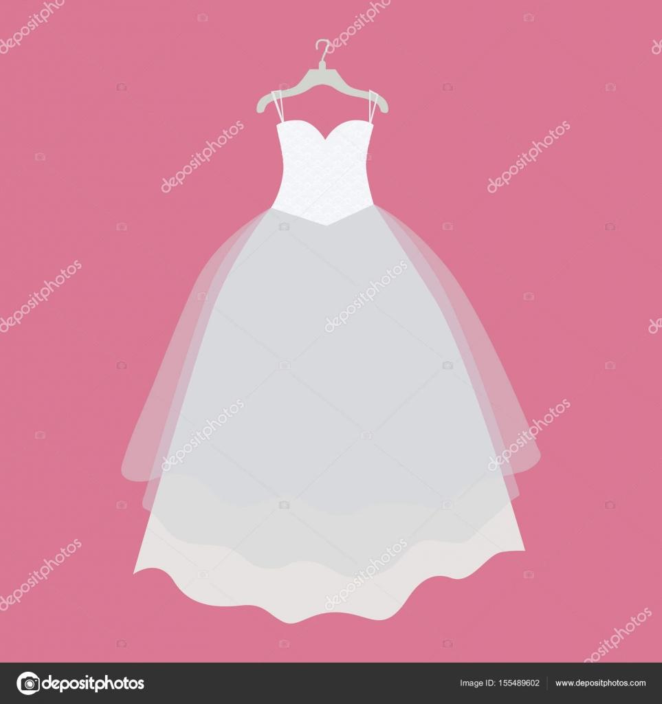 Ilustración de Vector vestido boda de diseño plano — Vector de stock ...