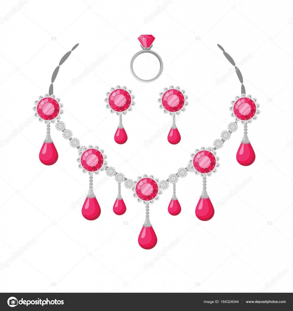 Beautiful Jewelry Accessories Set — Stock Vector © robuart #164324044
