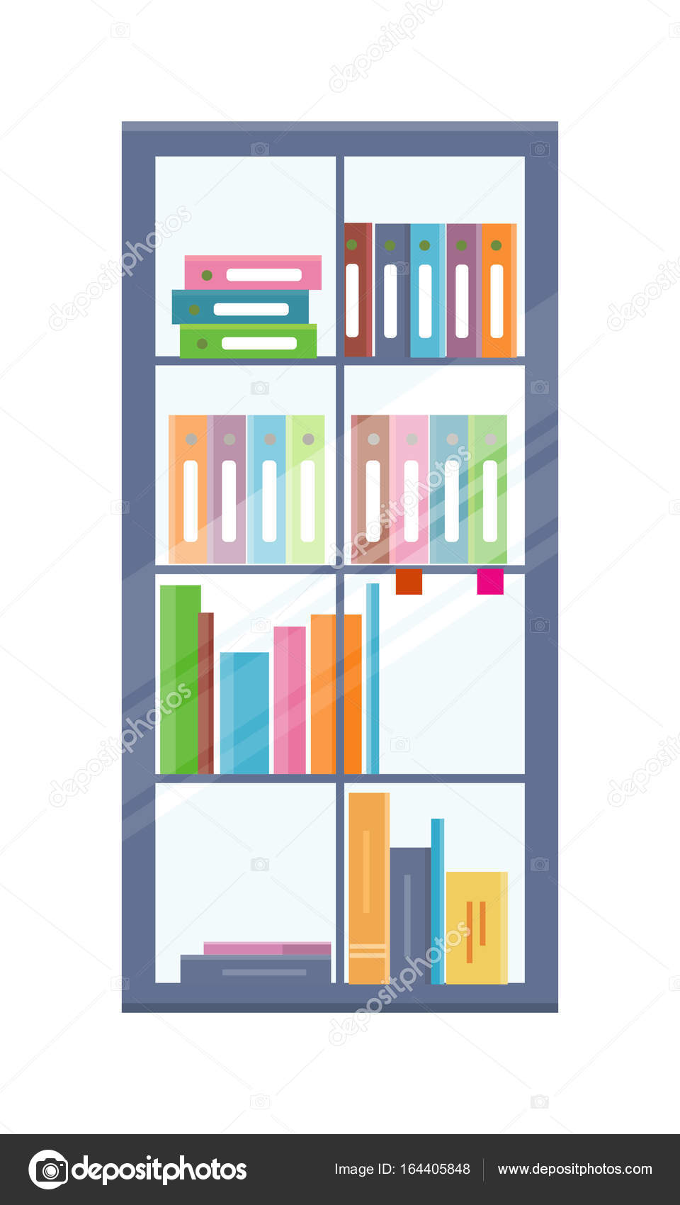 Office boekenkast met mappen — Stockvector © robuart #164405848