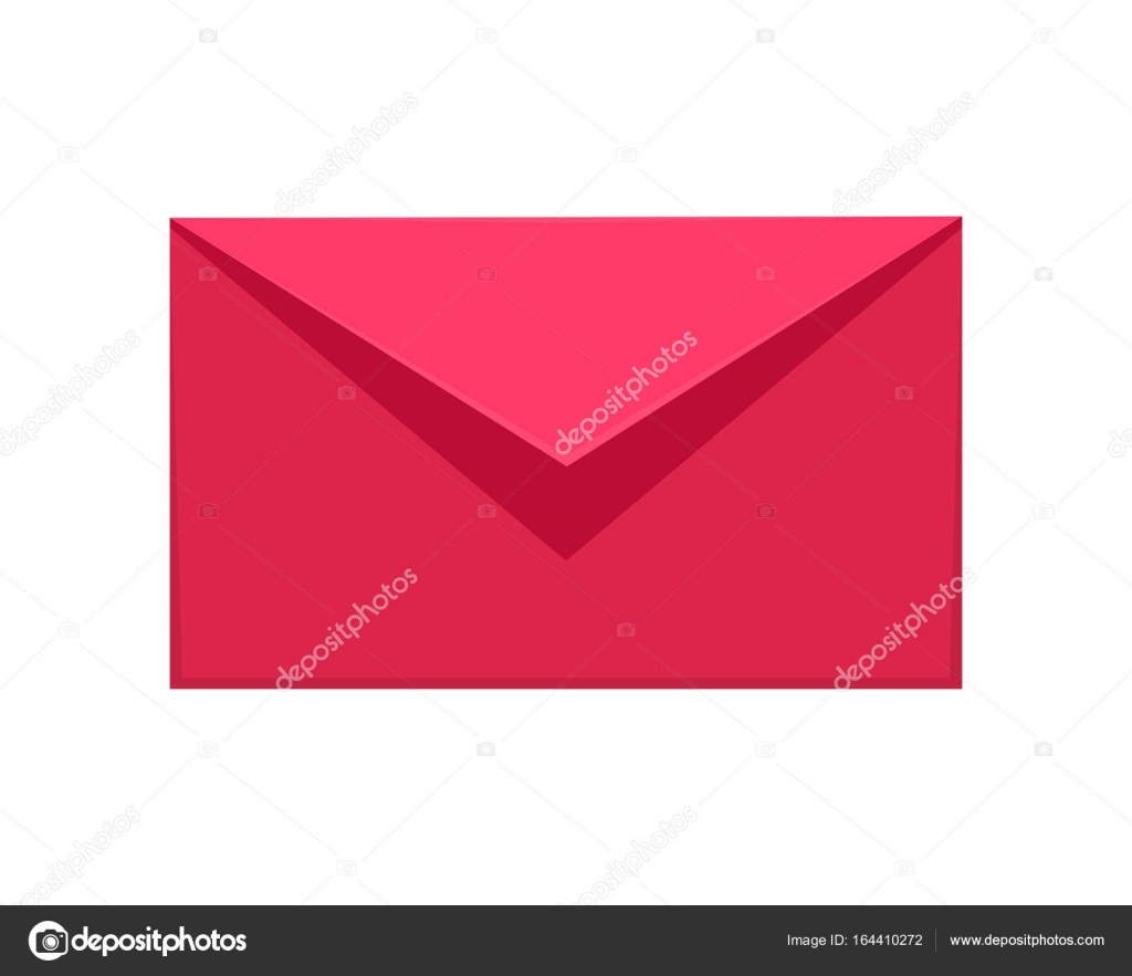 Message Icon  Red or Pink Communication Letter SMS — Stock