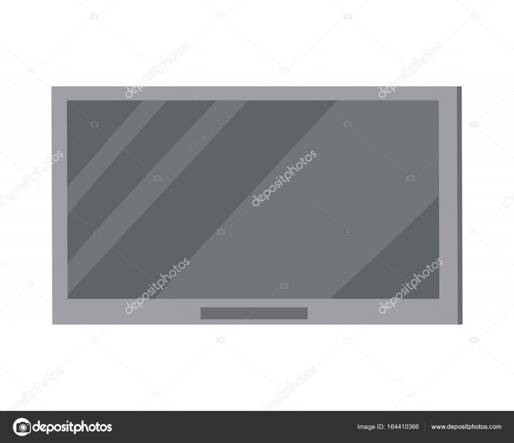 Led Tv Plasma Grand Cran Isolated On White Image Vectorielle  # Maison En Ecran Plasma