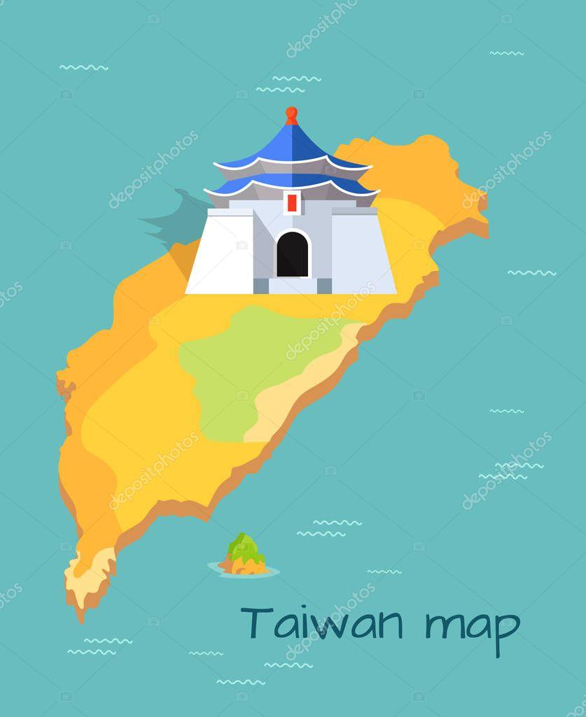 Majestic Chiang Kai-shek Memorial Building on Map