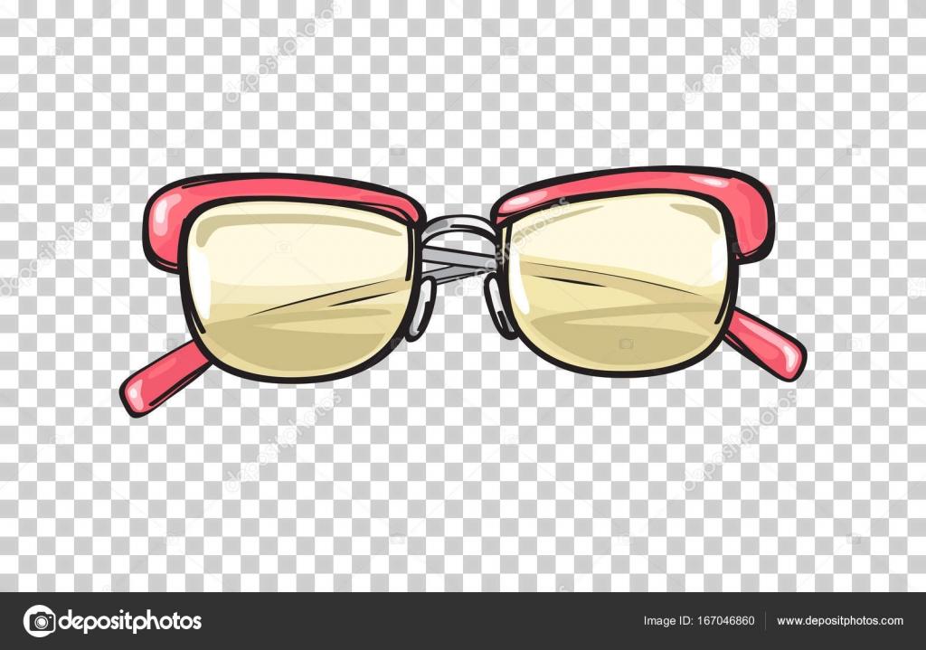 サンゴのフレームのイラストがおしゃれなメガネ — ストックベクター
