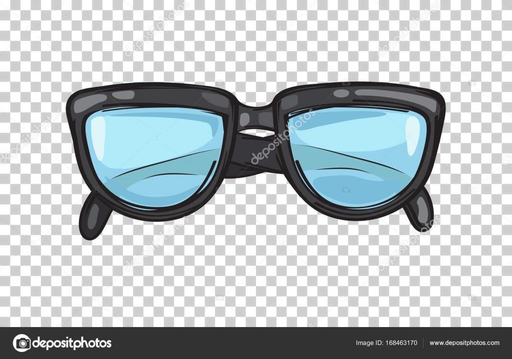 Ilustración de marco de anteojos negro moda — Vector de stock ...