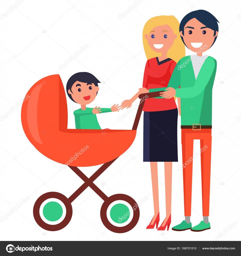 Affiche de la f te parents repr sentant la famille avec jeune enfant image vectorielle robuart - Symbole representant la famille ...