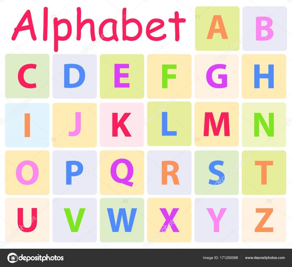 Alphabet Multycolored Avec 26 Lettres Majuscules Icone Image