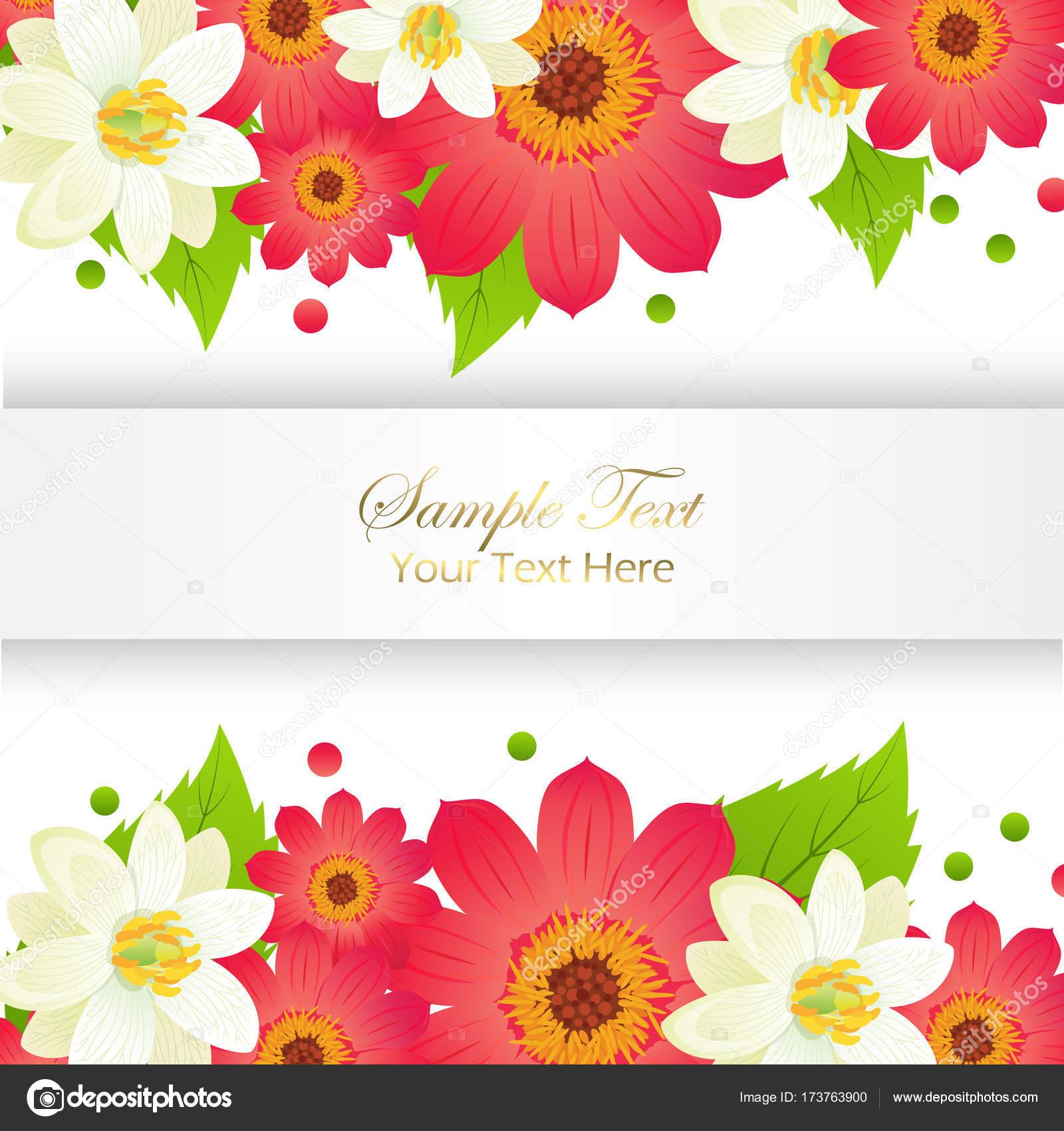 Feliz Navidad tarjeta de felicitación con marco y flores — Archivo ...