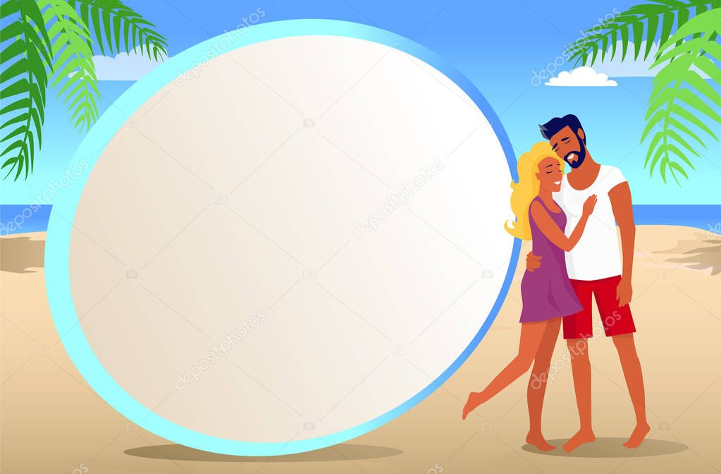 Frame for Photo with Couple on Tropical Beach