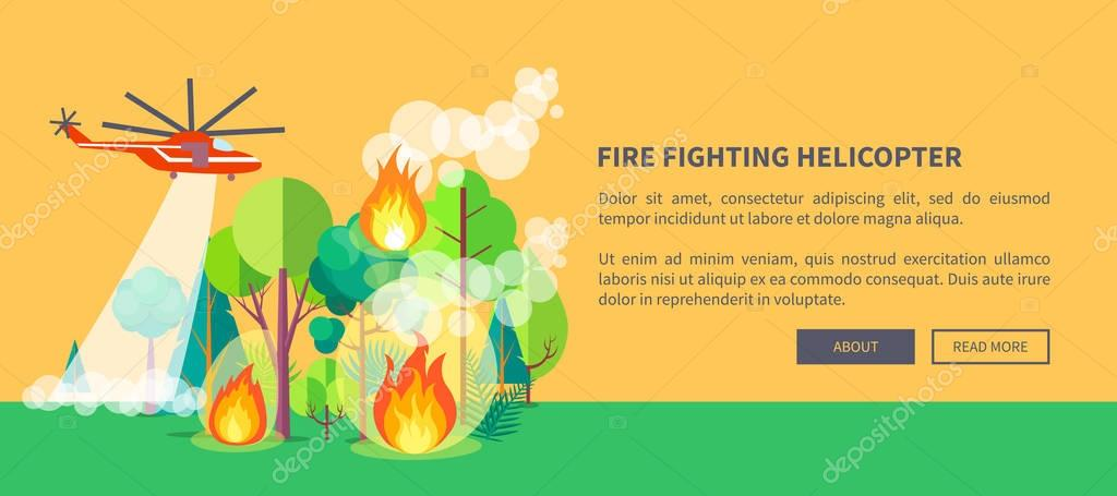 Poster of Helicopter Extinguishing Wildfire