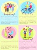 Fényképek Boldog nagyszülők nap idősebb párok és a gyermekek