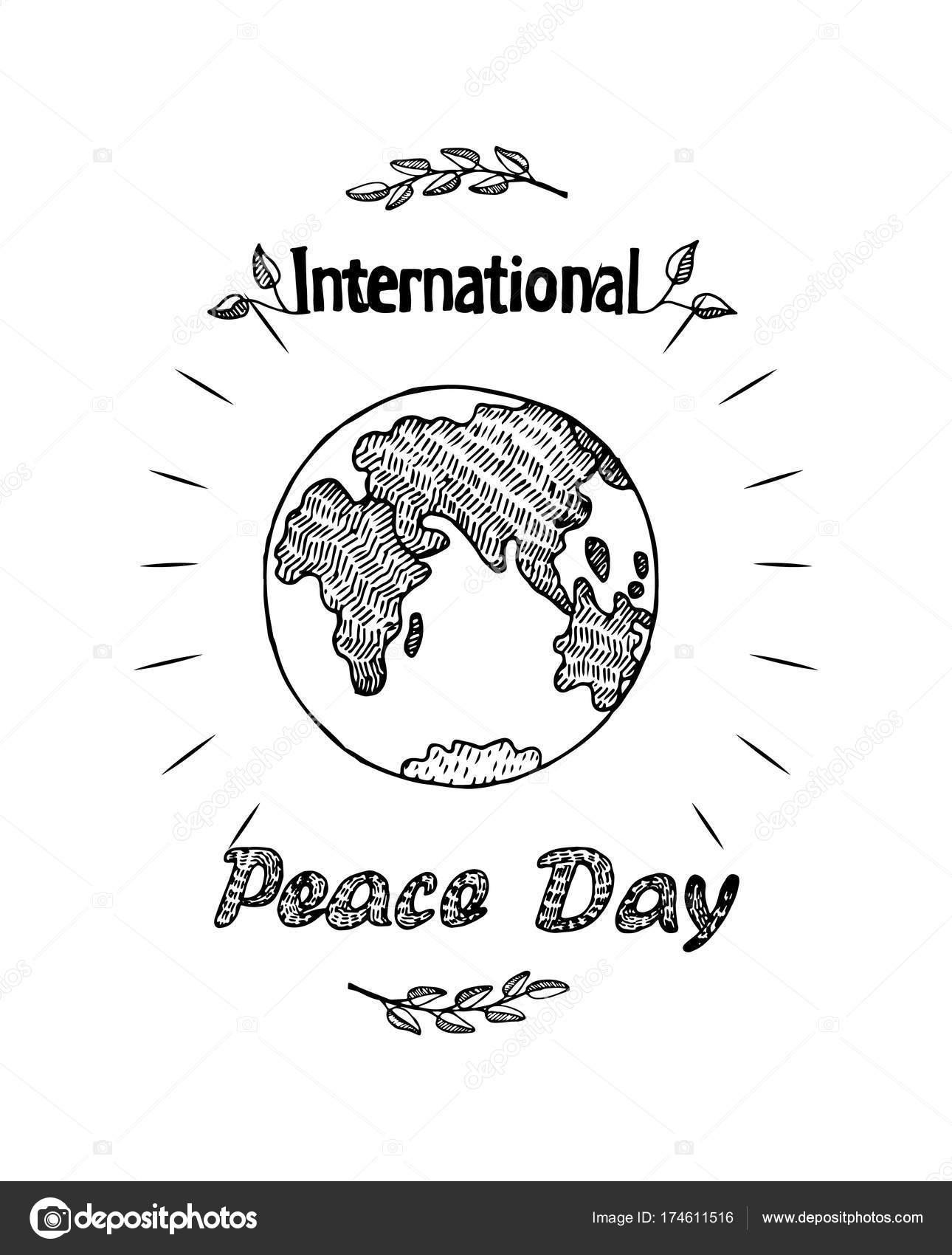 Ruhe Tag internationale Urlaub Poster mit Erde — Stockvektor ...