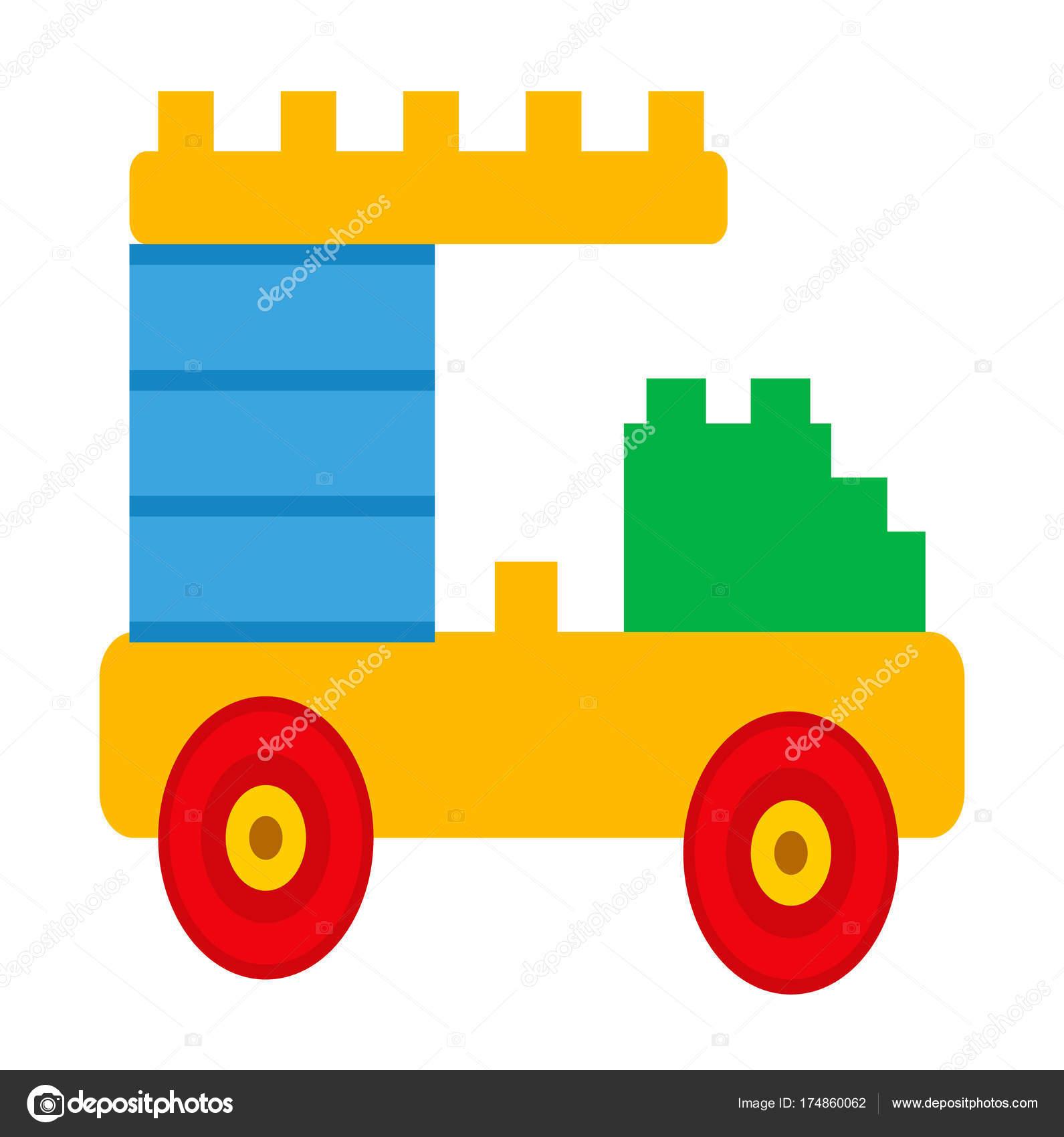 Einfaches Auto Konstruktor Spielzeug isoliert Illustration ...