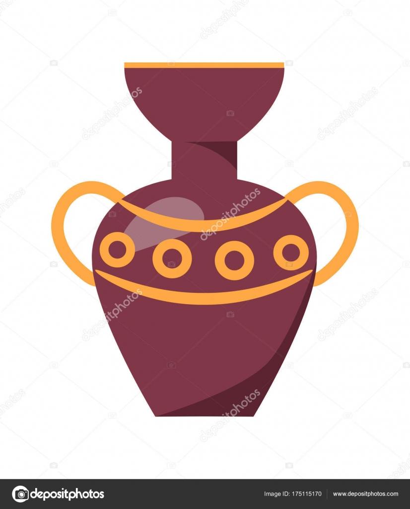 Ancient Greek Vase Isolated Illustration On White Stock