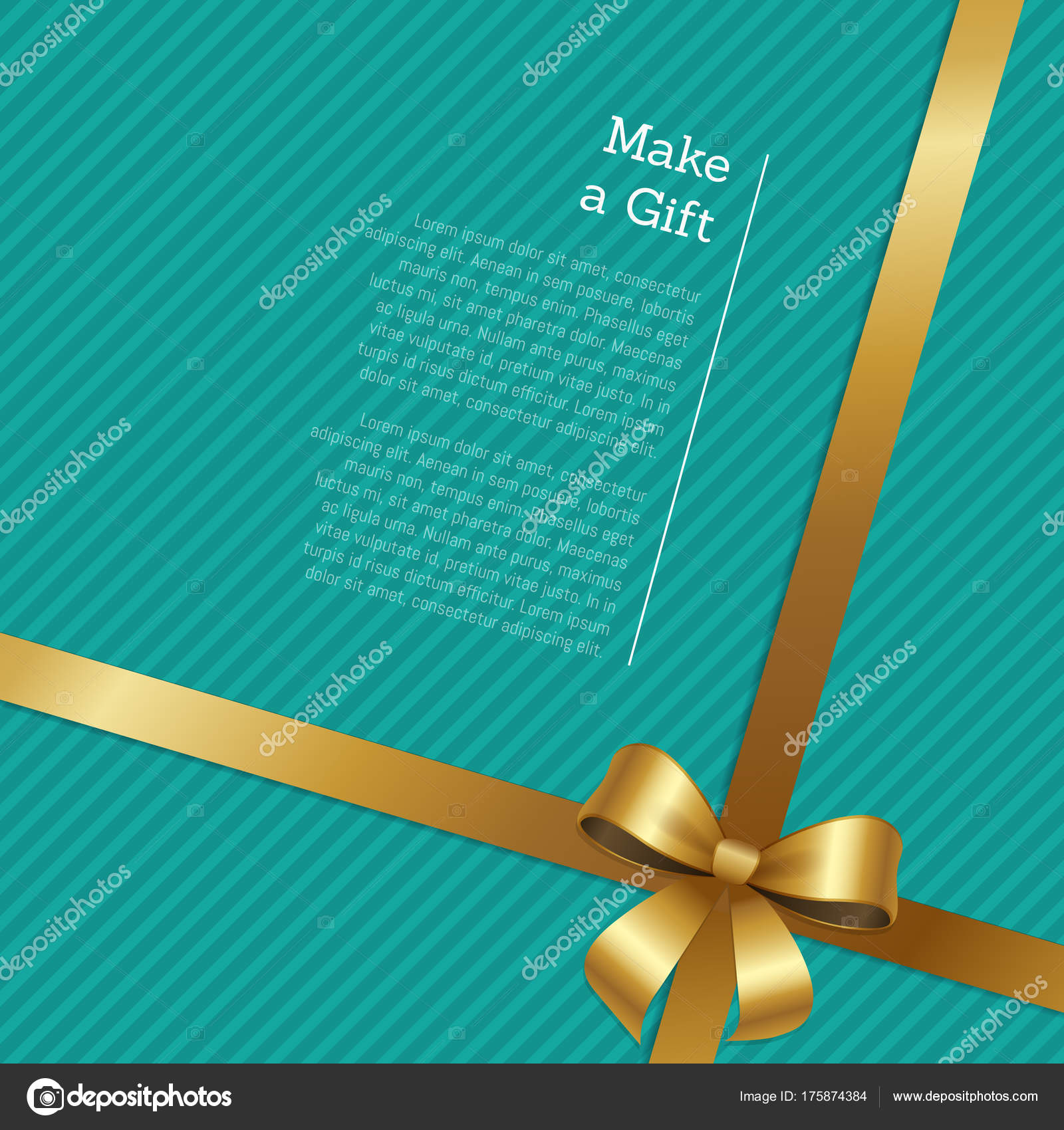 Make A Gift Certificate Or Greeting Card Design Stock Vector
