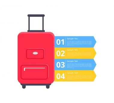 Baggage Packing Instructions Vector Illustration