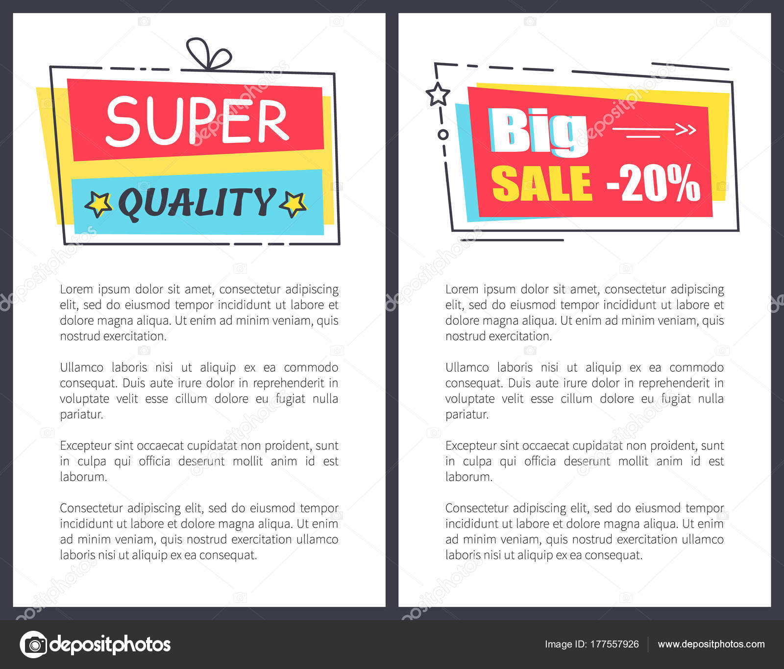 Promo Super calidad etiqueta marcos de texto cartel — Archivo ...