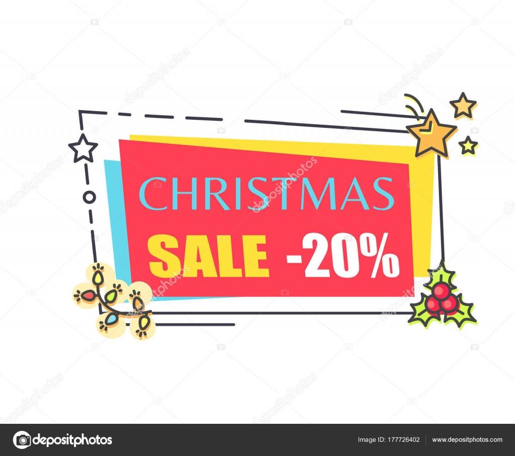 Venta de Navidad 20 de Sticker de la Promo en marco — Vector de ...