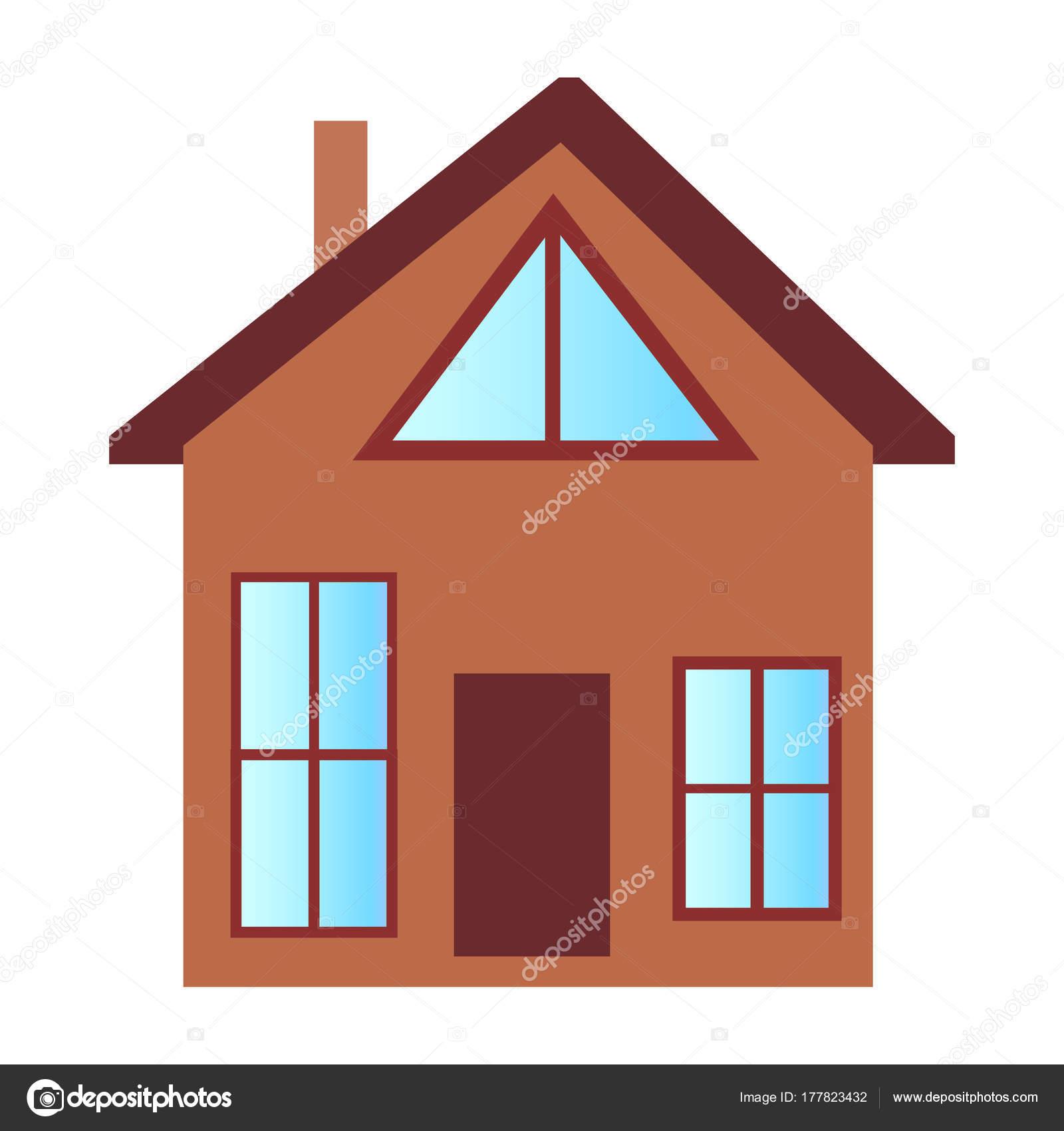 Cottage Maison Avec Grandes Fenetres Et Etage Attique Image