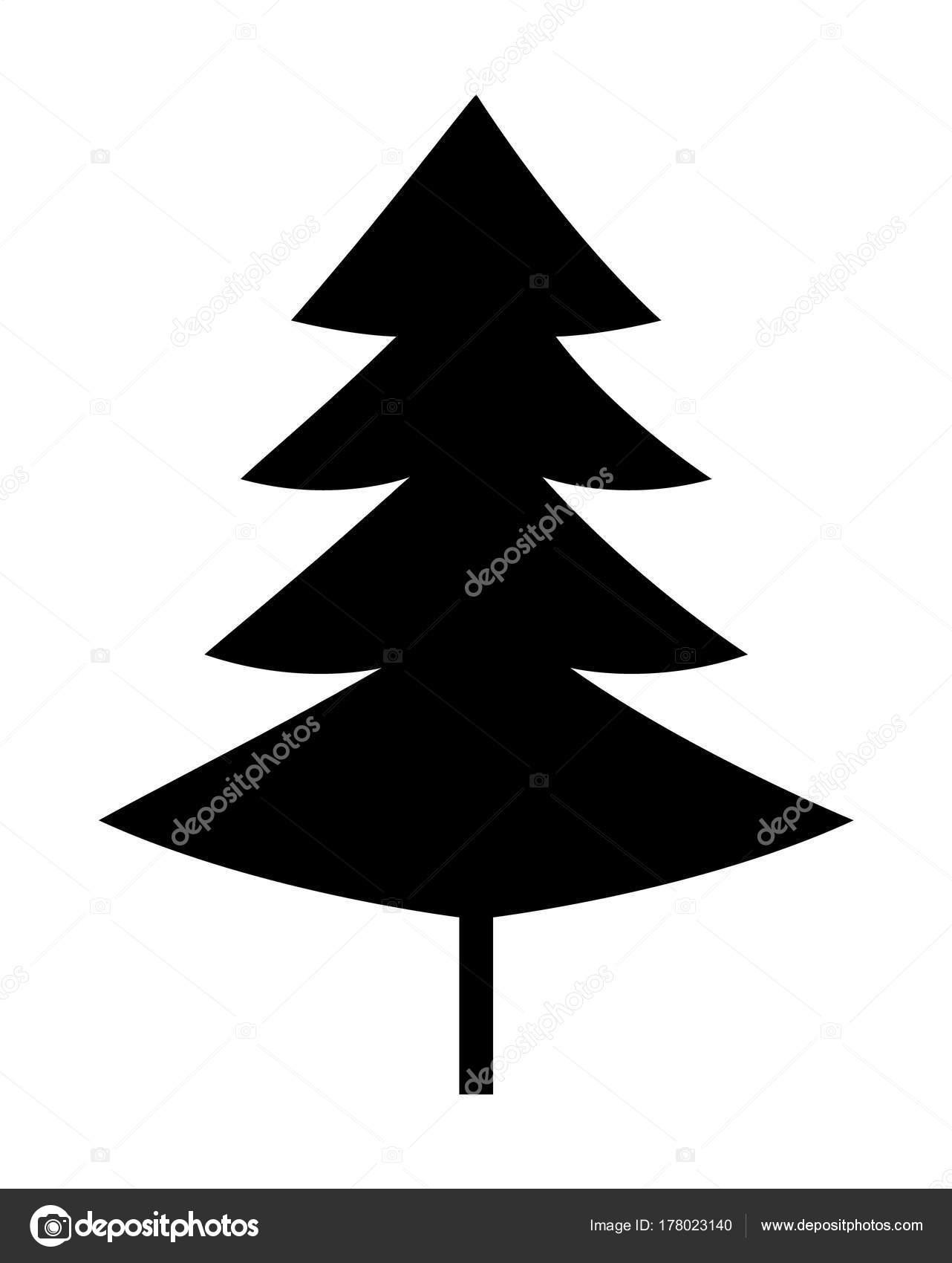 Albero Di Natale Nero.Albero Di Natale Nero Silhouette Vector Icon Vettoriali Stock