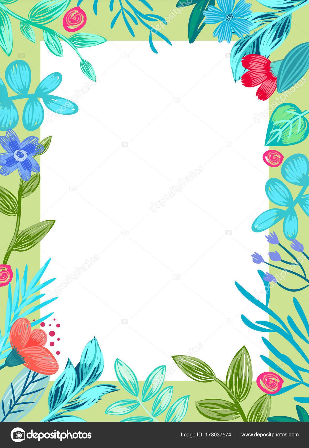 花と葉のベクター イラスト フレーム — ストックベクター © robuart