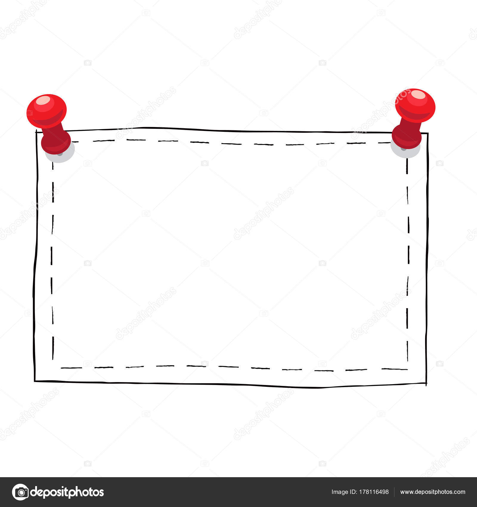 Einfach Platz Rahmen mit Pins Illustration — Stockvektor © robuart ...