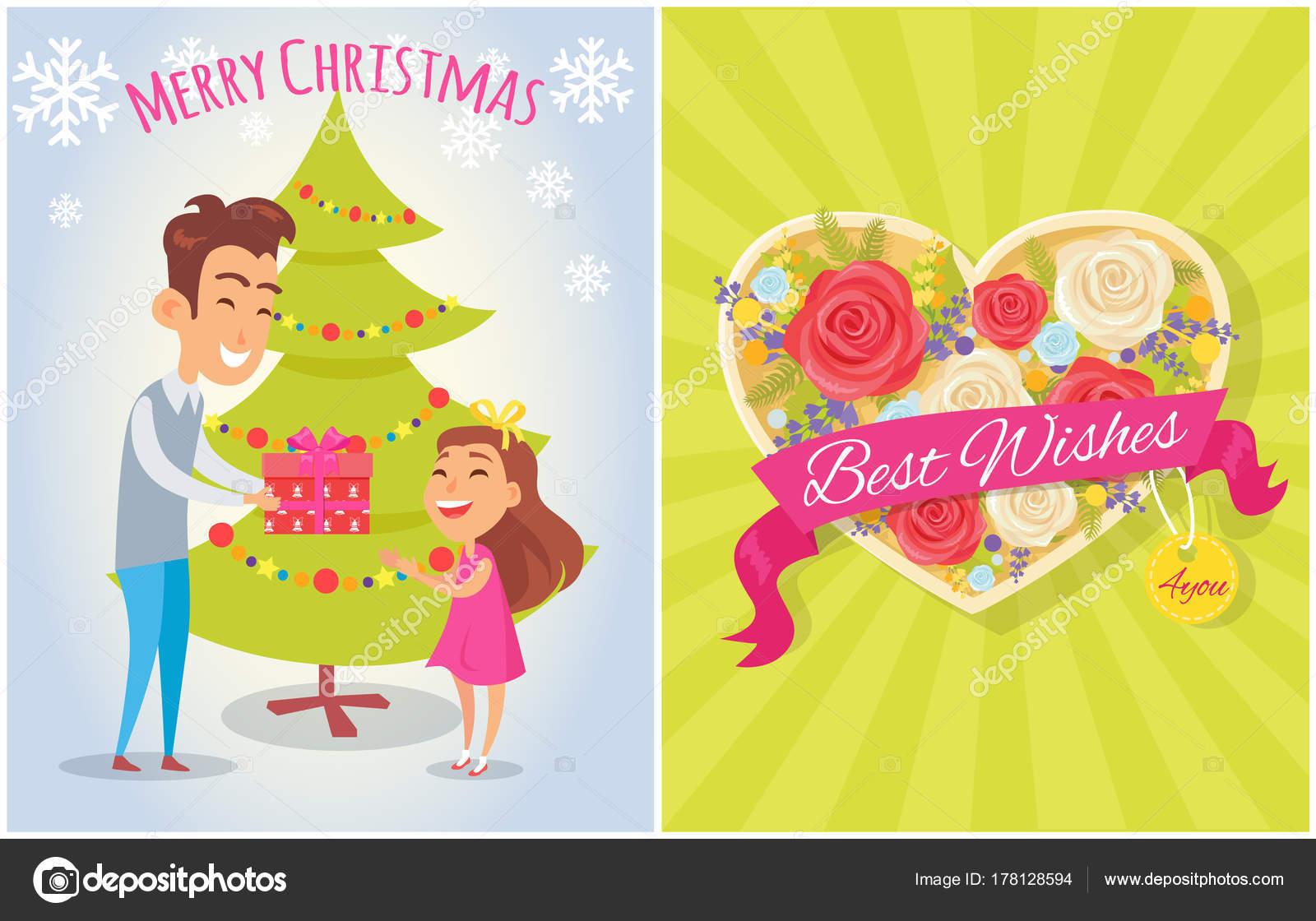Frohe Weihnachten wünscht Sie Postkarte Herz — Stockvektor © robuart ...