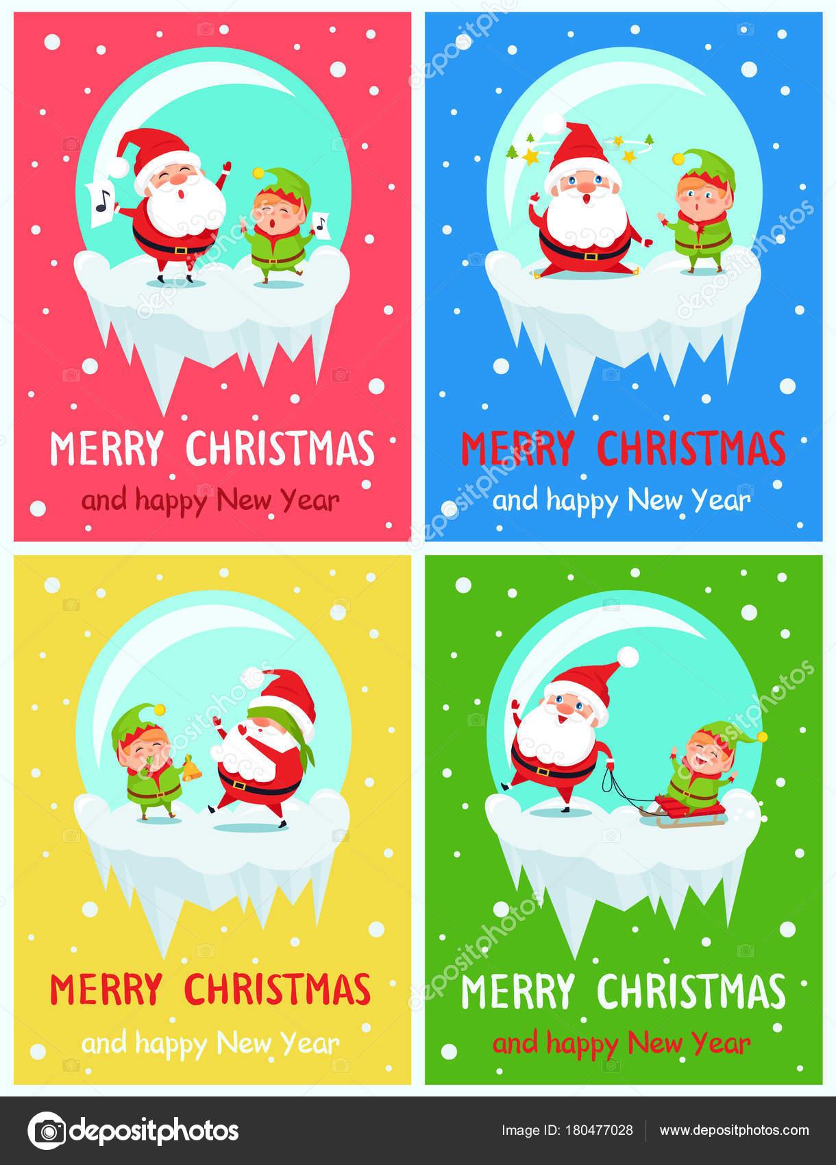 Auguri Di Buon Natale E Felice Anno Nuovo Canzone.Buon Natale E Felice Anno Nuovo Auguri Vettoriali Stock C Robuart
