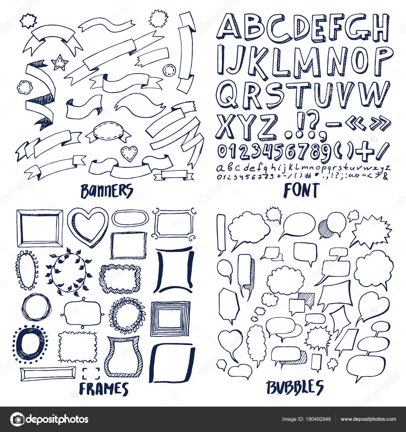 Lot of patterns of font banners frames and bubbles stock vector lot of patterns of font banners frames and bubbles stock vector spiritdancerdesigns Image collections